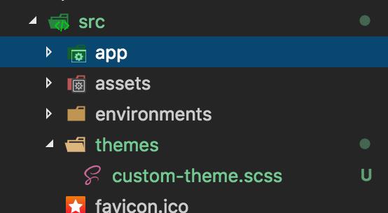 New theme scss